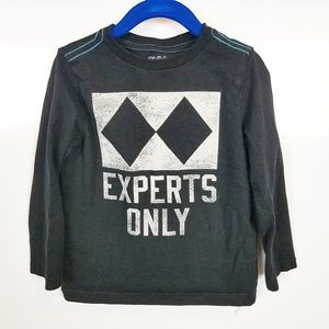 """XXS (3) Gymboree Boys Long Sleeved T """"Experts Only"""